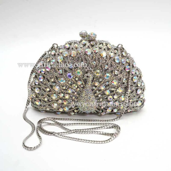 crystal evening purse