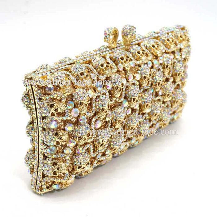 crystal clutch bag