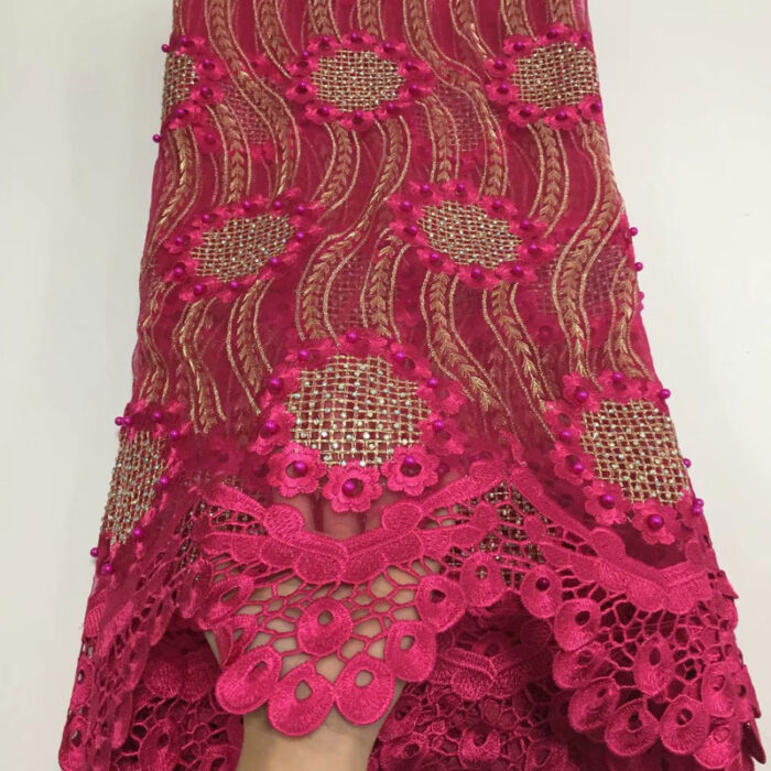 5 yards african lace fabric for african sewing fabric
