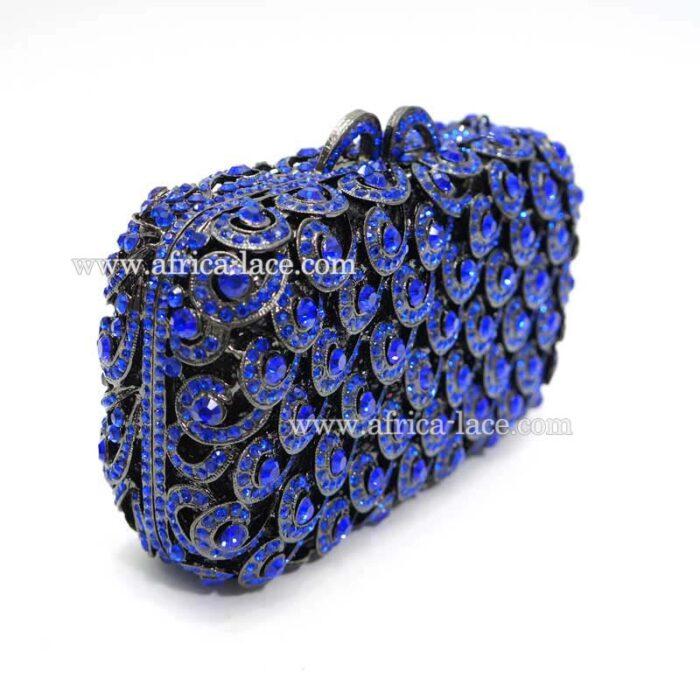 luxury crystal clutch bag