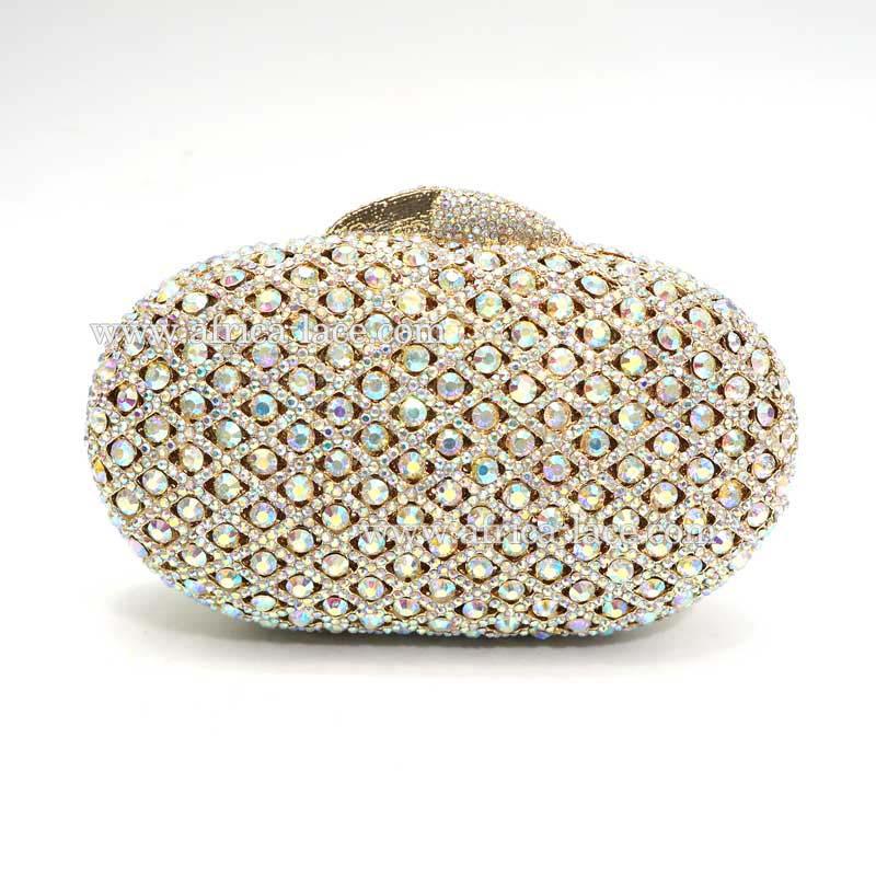 crystal cluth bag