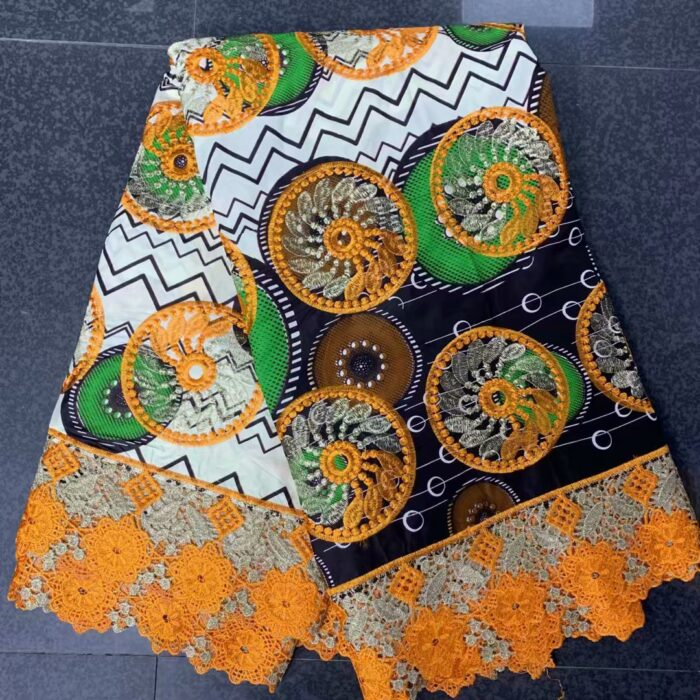 high quality super wax african wax print fabric lace 6 yards/lot