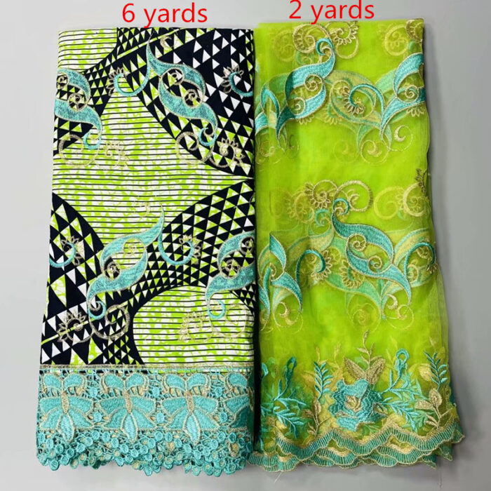 8 yards/lot Super wax african wax print fabric lace for party dress