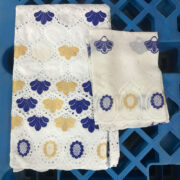 african fabric African Bazin Riche Fabric 5 yards+2 yards lace