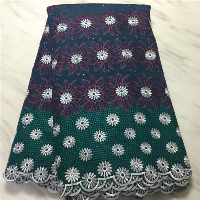 African Cotton Swiss Voile Lace Fabric 5 yards