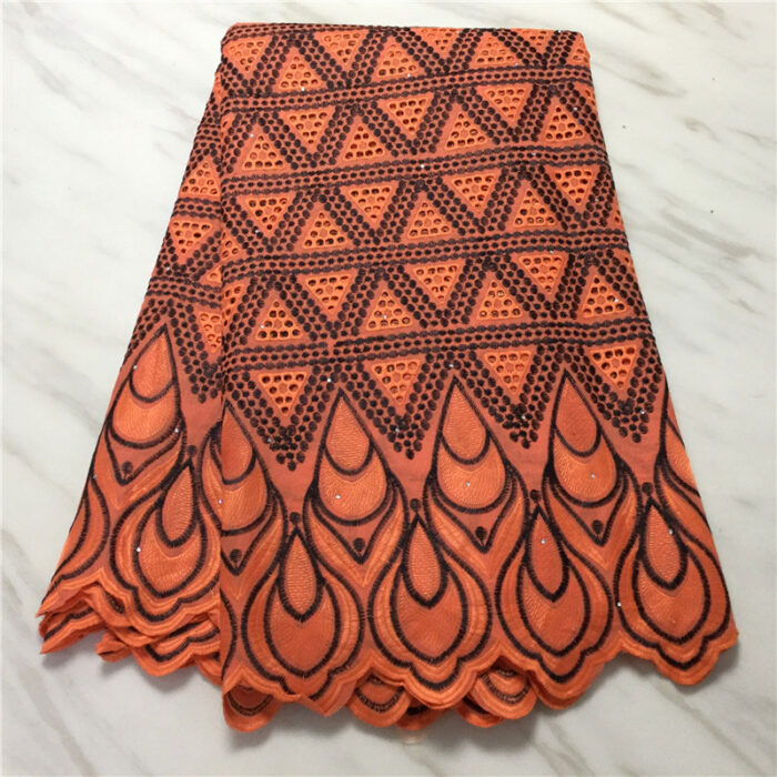 Bazin riche fabric African embroidered 5 yards