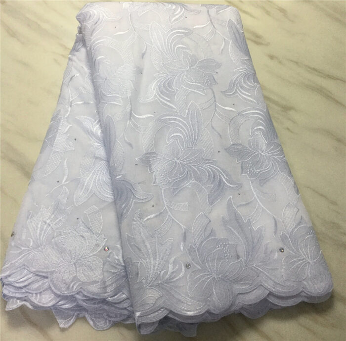 5 yards swiss voile lace in cotton fabric