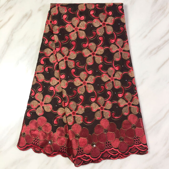 High quality swiss voile lace in embroider lace fabric
