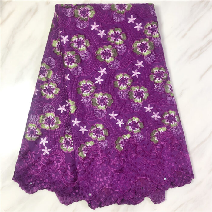 5 yards cotton material in swiss voile lace fabric for wedding dress
