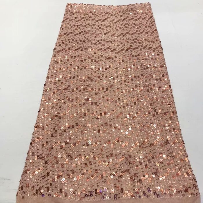 High quality sequins lace fabric 5 yards per lot for wedding dress