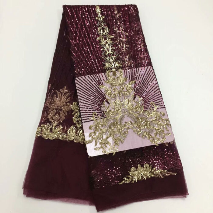 5yards/lot French lace fabric for Nigerian lace fabric