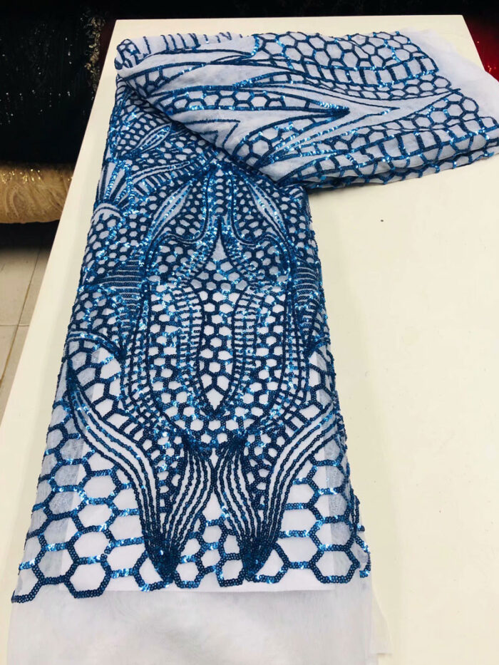 luxury sequins lace fabric for dress