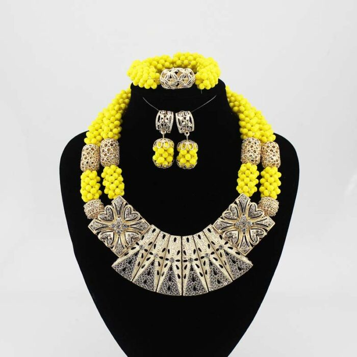 Nigerian Jewelry Sets For Women wedding in necklace set for JW1018-2