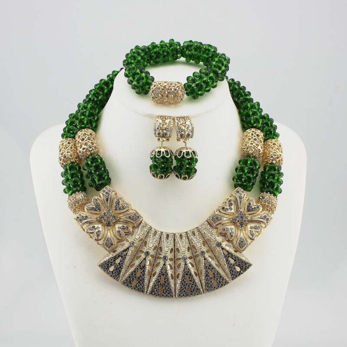 Nigerian Jewelry Sets For Women wedding in necklace set for JW1018-3