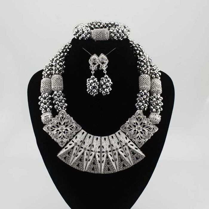 Nigerian Jewelry Sets For Women wedding in necklace set for JW1018-4