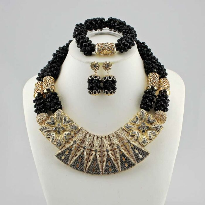 Nigerian Jewelry Sets For Women wedding in necklace set for JW1018-5