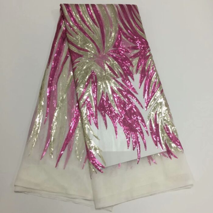 High quality lace fabric in sequins fabric