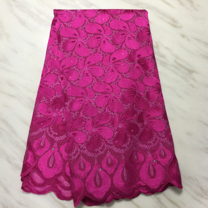 Swiss voile lace fabric in cotton material ,5 yards Nigerian wedding fabric