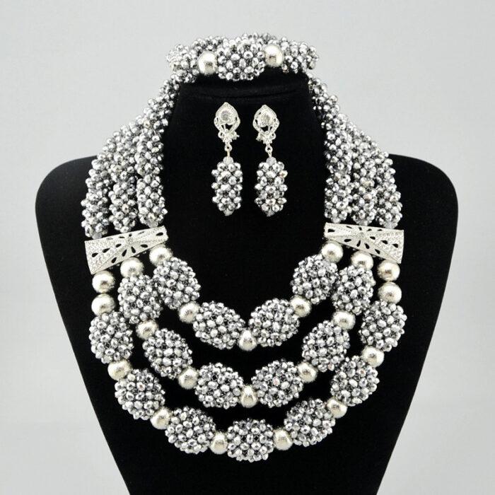 jewelry Luxury Bridal Jewelry Set 100% Original Big Coral Beads Jewelry Set Nigerian Necklace Set for Women Jewellery Set