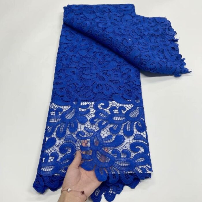 African Cord Lace Fabric with Water Soluble Dress Lace sequins