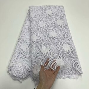 African cord lace fabric with sequins 5 yards