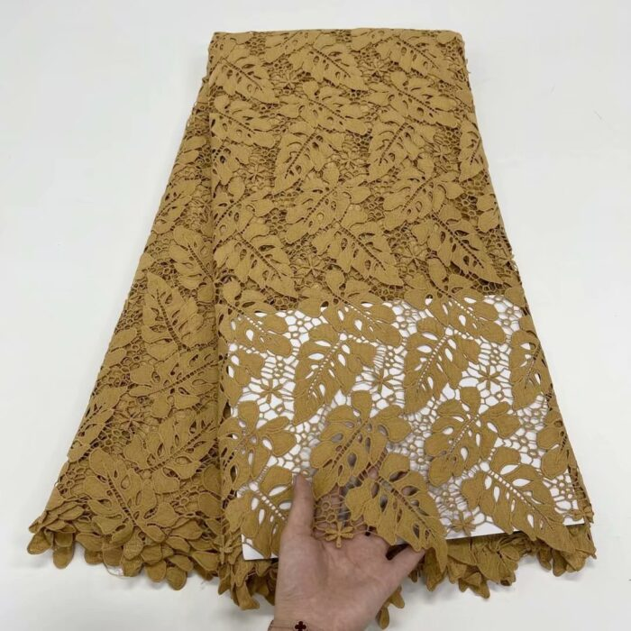 African cord lace fabric with sequins 5 yards in WS1081