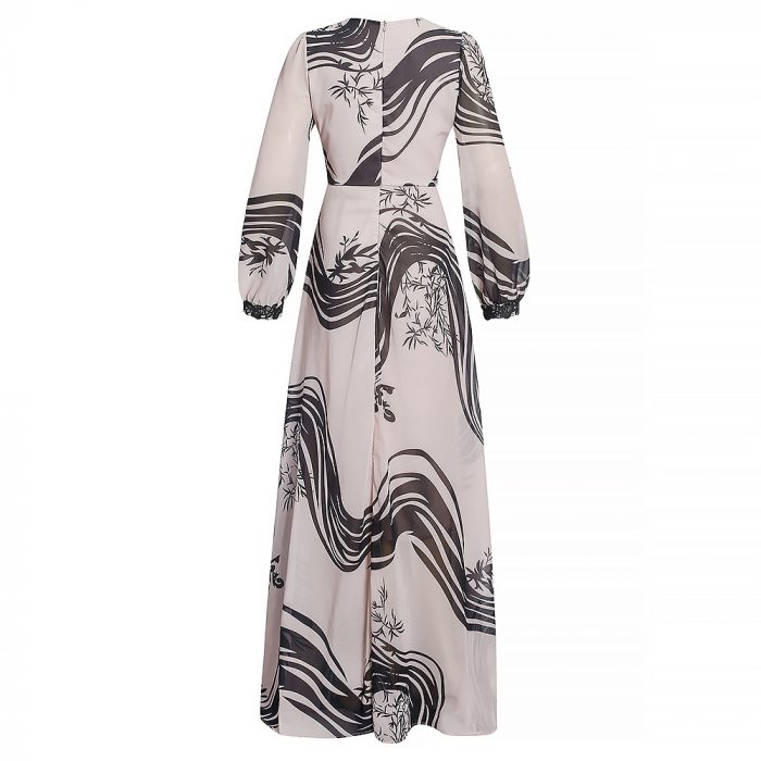 New fashion style v-neck african women printing clothes